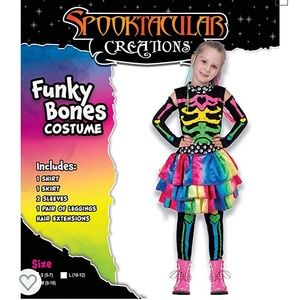 FUNKY BONES GIRLS HALLOWEEN COSTUME